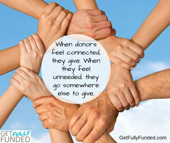 When donors feel connected, they give.