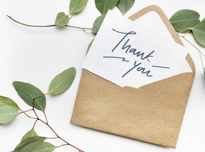 thank you cards make donors freel great!